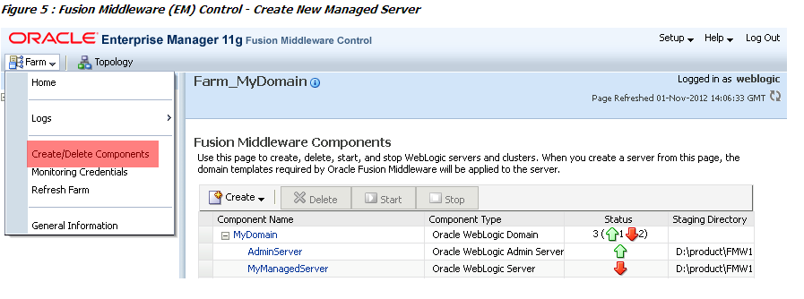 How to Apply Oracle Enterprise Manager Fusion Middleware